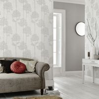 Graham and Brown Eternal White Mica 33-288 Wallpaper